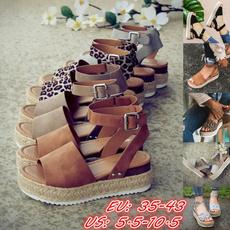 wedge, Sandals, Summer, antislip
