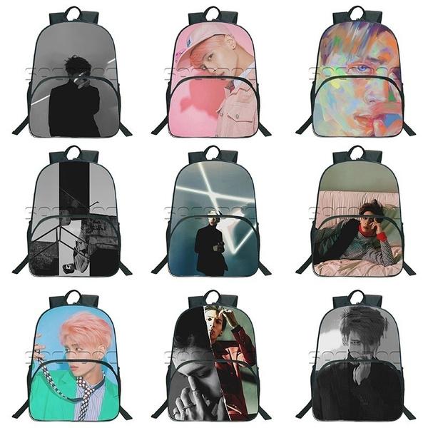 SHINee Jonghyun backpack fashion beautiful Popular pattern School Bags  beautiful Students School Backpack