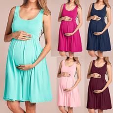 Maternity Dresses, Summer, Plus Size, pleated dress