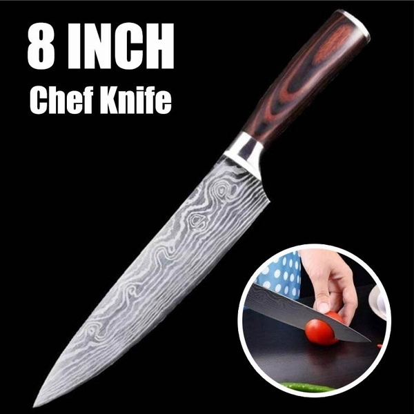 Damascus Knife 8 Inch Chef Knife Damascus Steel Kitchen Knives Cooking Tools Damascus Kitchen Knife Professional Japanese Damascus Steel Kitchen