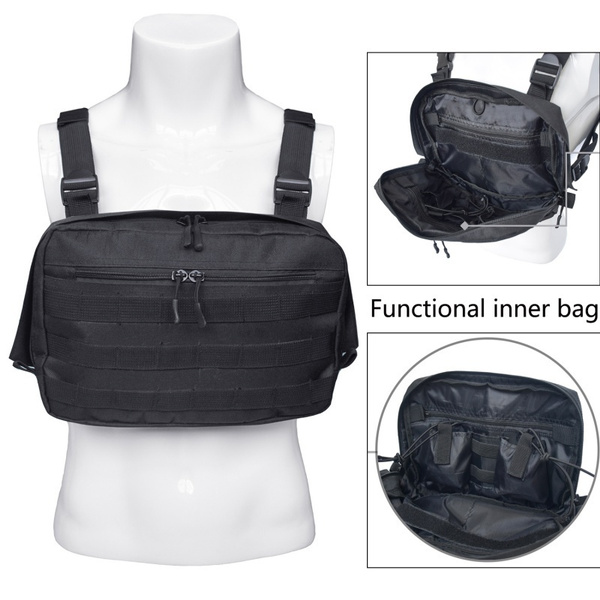 22509667892de Fashion Chest Rig Tactical Shoulder Bags Hip Hop Streetwear Tactical Chest  Bag West Functional Waist Packs Waistcoat