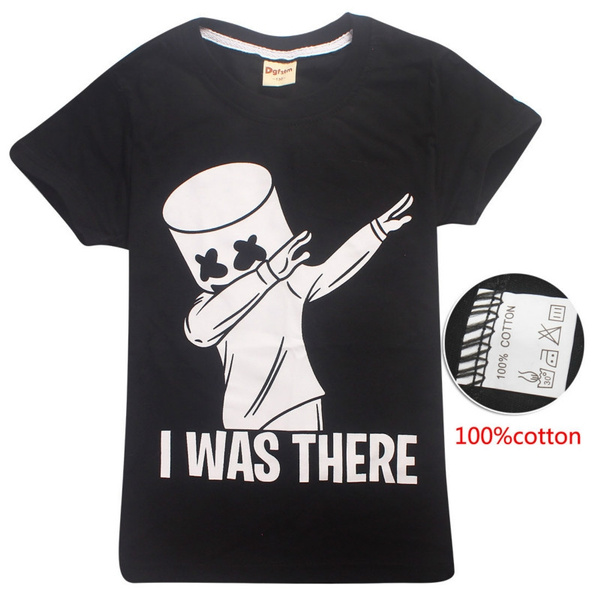 163f5ee987 Marshmello Kids T Shirt Dj Music Children T Shirt Marshmello Face Man Boys  Girls Tops Tees Summer Funny Tshirt