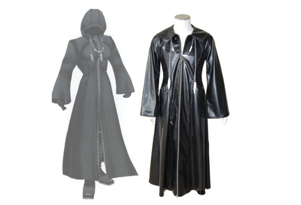 Kingdom Hearts Organization XIII Roxas Zip Cloak CostumeCoat Jacket Cosplay