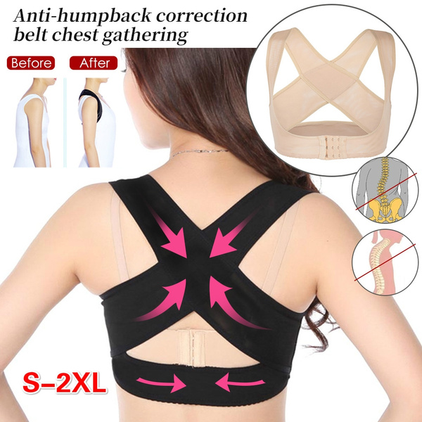 Womens Chest Brace Support Vest Back Corrector Vest Adjustable Breathable 1PC