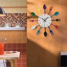 spoonfork, creativealarm, living room, Clock