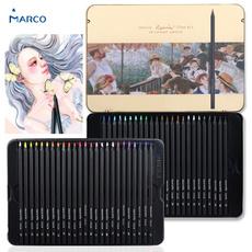 pencil, marco, blendable, Colored