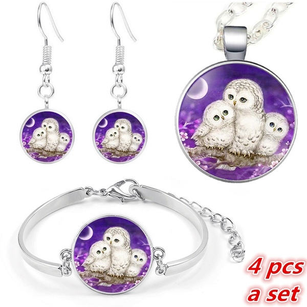 Owl, Family, chainpendantnecklace, Jewelry