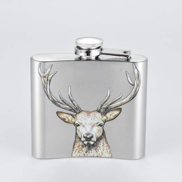 Durable 5oz Stainless Steel Pockets Hip Flask Wine Bar Drink Bottle With Funnel.