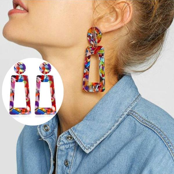 exaggeratedearring, Dangle Earring, Jewelry, colorfulearring