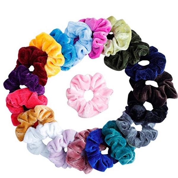 vente à bas prix chercher bons plans 2017 20Pcs Hair Scrunchies Velvet Elastic Hair Bands Scrunchy Hair Ties Ropes  Scrun Bandes de cheveux élastiques de velours de chouchou