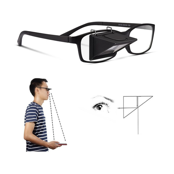Multifunction Prism 90 Degree Reflector Student Fun Toys Glasses Walk To  Use Lazy Bed Lying Watching TV Reading