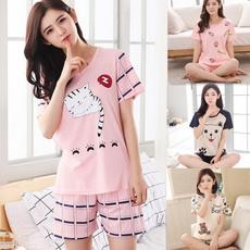cute, Shorts, Sleeve, summerpajama