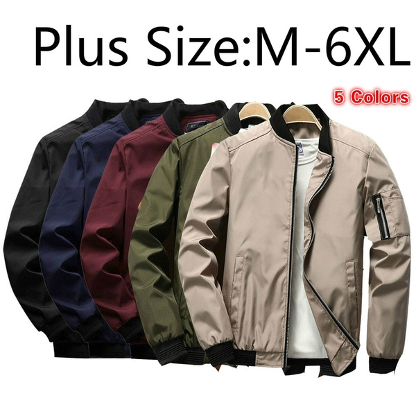Stylish men Jacket Street wear Slim Fit Pilot Bomber Coat Men Plus Size 4XL