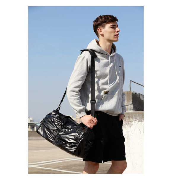 a87a1ebd052dc Gyms Bag with Shoes Compartment Mens/Womens Waterproof Sports Travel Duffel  Black and Rose Gold