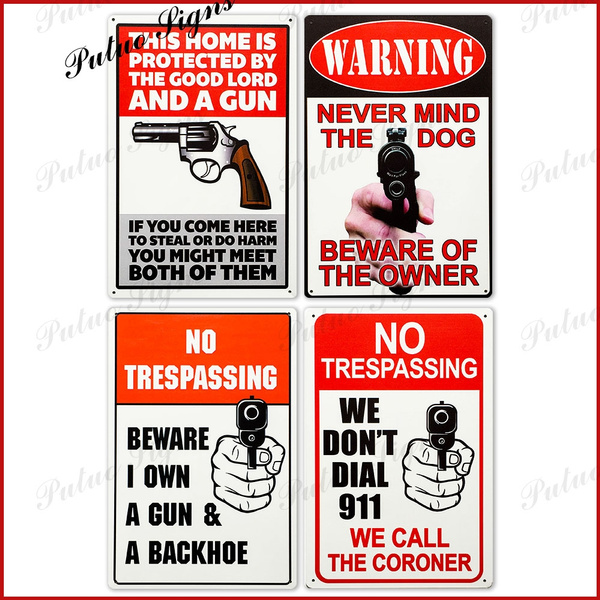 No Tresping Signs Funny Warning