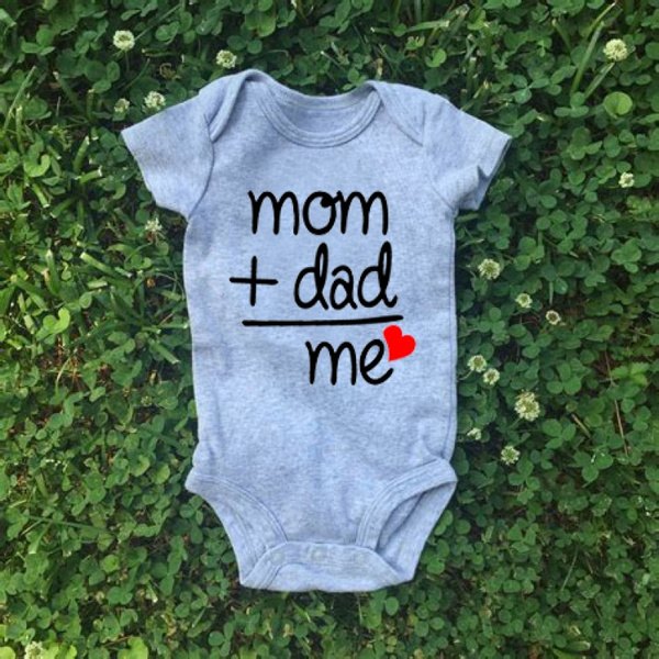429098a29780e Mom Plus Dad Equals Me Cute Bodysuit Baby Shower Gift Baby Clothes ...