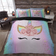 King, rainbow, Bedding, Cover