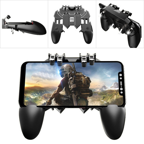 PUBG Mobile Gaming Controller Gamepad Handle Trigger Fire Button 4 Triggers  Shooter Accessories for iPhone Android Phone