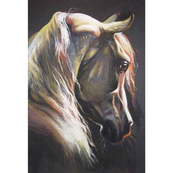 5D DIY Full Drill Diamond Painting Horse Cross Stitch Embroidery Wall Home Decor