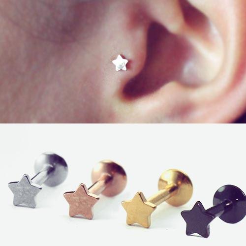 Steel, Star, Jewelry, labretjewelry