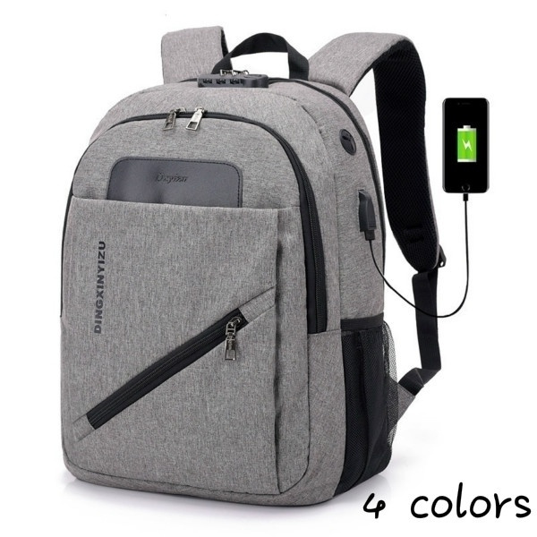 Color : Gray Casual backpack waterproof travel backpack large capacity backpack