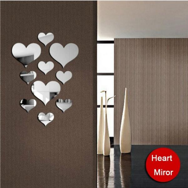 Makeup Mirrors, wallstickersampmural, Love, Home Decor