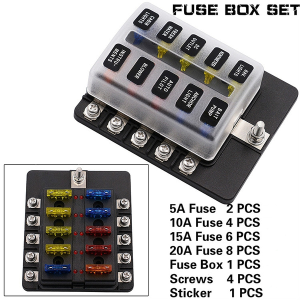factory car trailer ship 1 in 10 out fuse box seat screw connection kit refit accessories 12 36 v Air Bag Kit