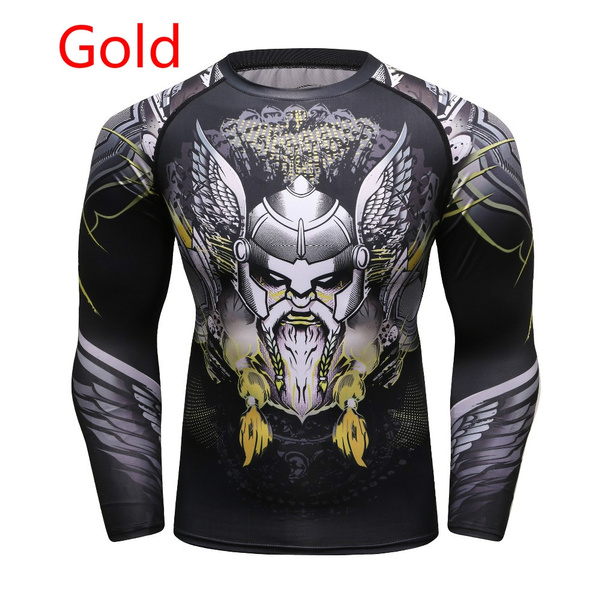 23538e413065 2018 Mens Fitness Compression O-Neck Long sleeves T Shirt Animal 3D Prints  MMA Rashguard Tights Skin Man COCEDDB T-Shirts   Home
