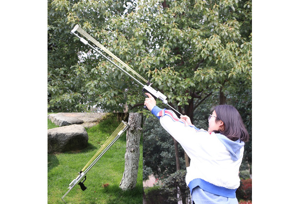 Outdoor shooting campaign Hunting game Catapult Rifle ﹟ Before after telescopic