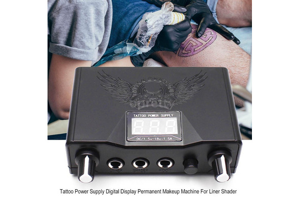Professional Tattoo Power Supply Double Digital Display Permanent Makeup  Tattoo Power Supplies Machine For Liner Shader