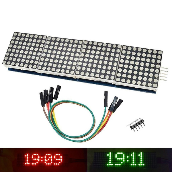 MAX7219 Display Dot Matrix Module Microcontroller 4 in 1 For Arduino DIY Kit