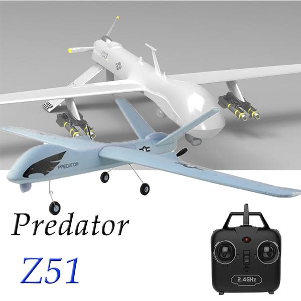 Z51 Predator Flying Model Gliders 2 4G 2CH Remote Control RC Airplane Plane  Wingspan Foam Hand Throwing Glider Toy Kids