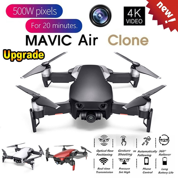 Mavic Air Clone! HJHRC HJ28 WIFI FPV 5MP Wide Angle Camera High Hold Mode  Foldable RC Drone Quadcopter RTF Gifts Toys Kids