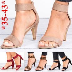 Summer, Sandals, thickheel, Stiletto