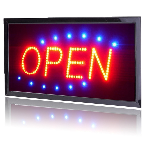 LED Open Store Business Sign Shop Billboard Flashing Customers Attractive  Neon Light US Plug