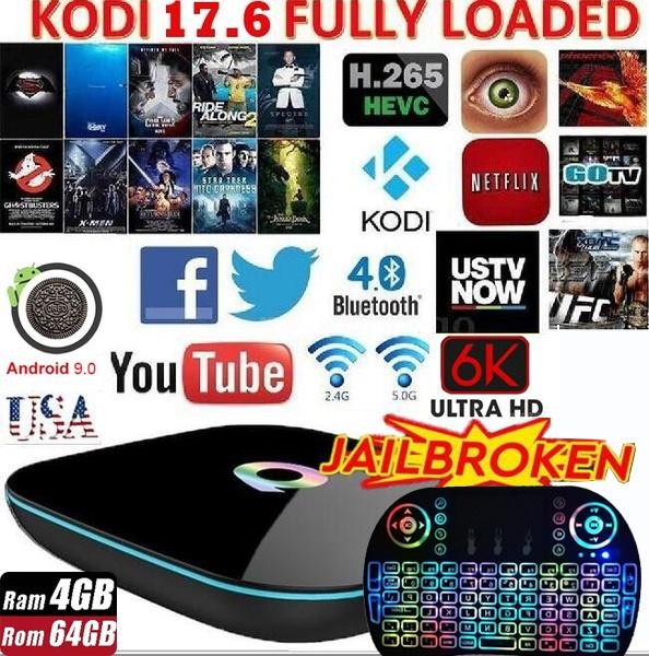2018 Top Selling Q-Box Quad-Core Android 7 1 [2GB/16GB/4K] Smart TV BOX  Amlogic S905X+ Free I8 Keyboard