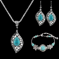 Turquoise, Fashion, women bracelets, Earring