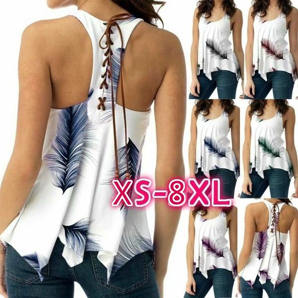 Summer, Vest, Blouses & Shirts, Women Blouse
