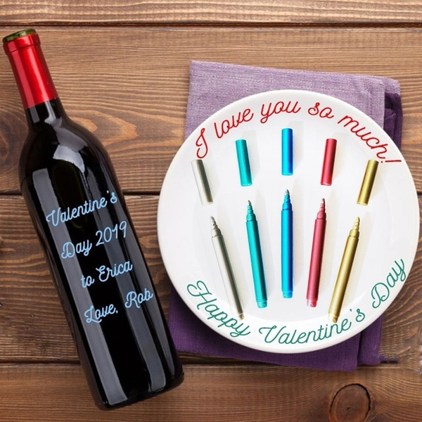 Write On Glass Wine Glass Markers Wine Pens Set Of 5pcs Mixed Colors