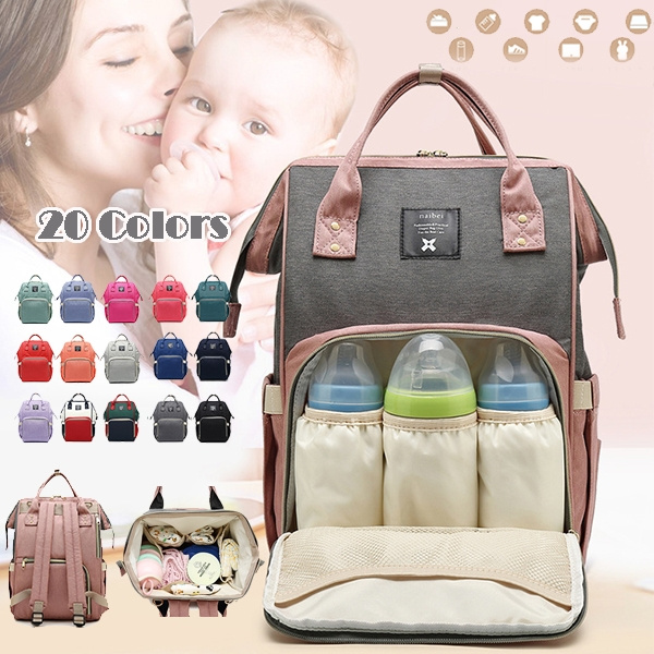 Large Nappy Waterproof Diaper Shoulder Mummy Bag for Mom Baby Travel Handbag