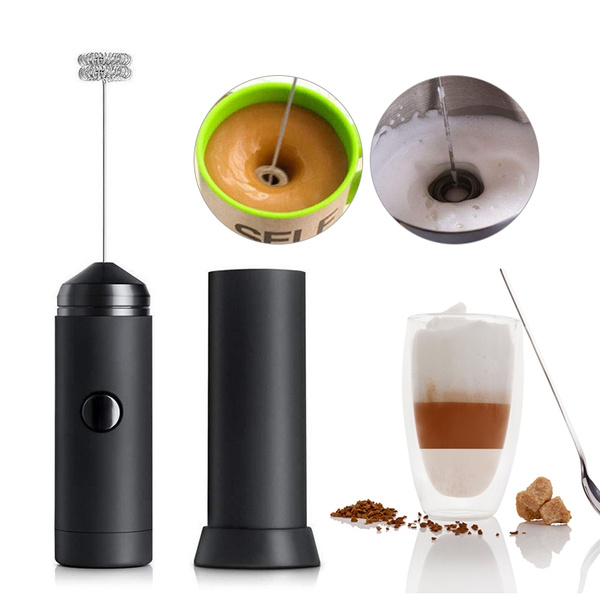 Handheld Electric Coffee Latte Hot Chocolate Milk Egg Frother Whisk Frothy Blend