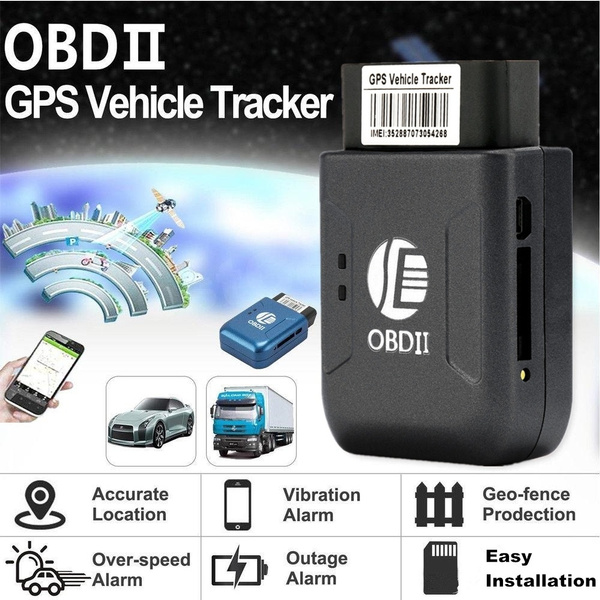TK206 OBD GPS Tracker Cell Phone GPS Tracking System for Vehicles with Real  Time Tracking and Move Alarm Functions