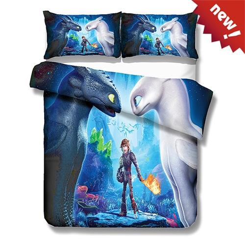 Train Your Dragon 3 Bedding 3pcs Duvet