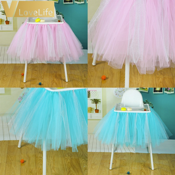 Super Boy Girl Tutu Tulle Skirt High Chair Cover Cloth Baby Shower Birthday Party Supplies Baby Decor Tulle Skirt 100Cm X 35Cm Ocoug Best Dining Table And Chair Ideas Images Ocougorg