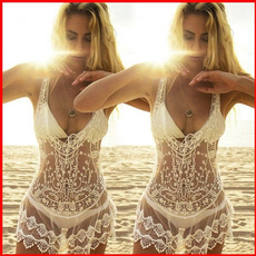bathing suit, Fashion, solidcolordre, Lace
