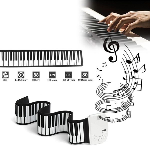 Flexible Foldable Piano Portable Electric Digital Roll up Keyboard Piano  For Keyboard Musical Instrument 88 Key