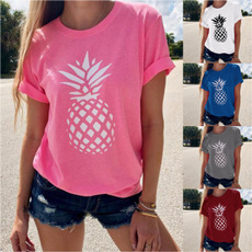 pineappleprint, Graphic, summer t-shirts, womentee
