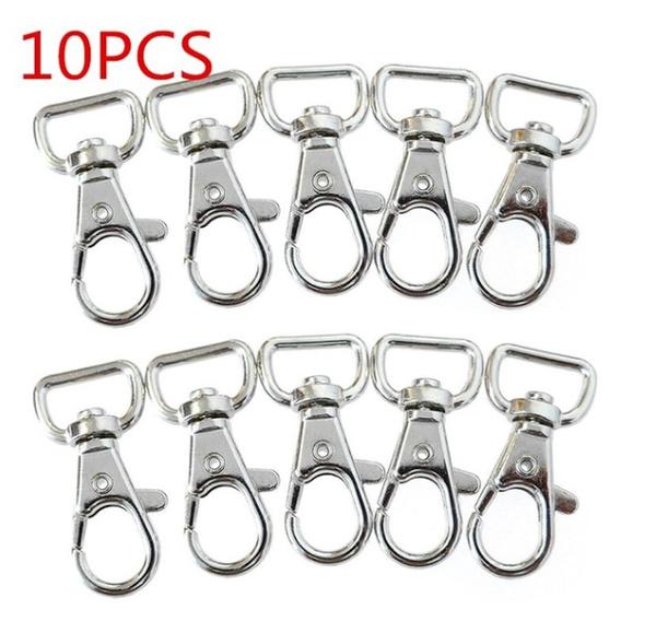 10 pcs Lobster Clasps Swivel Trigger Clips Snap Hooks Bag Key Ring