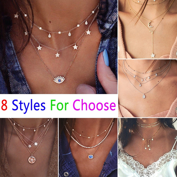 Heart, Diamond Necklace, Star, Chain