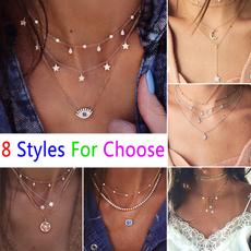 Corazón, Diamond Necklace, Star, Chain